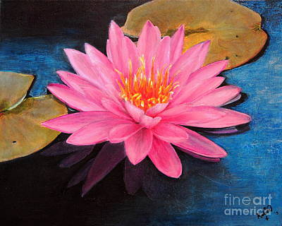 Lilly Pond Painting - Lilly by Robin Kirkpatrick