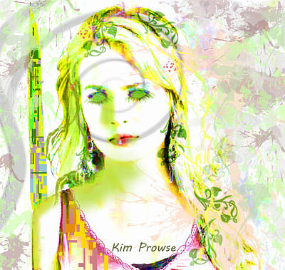 Digital Art - Lily Lime by Kim Prowse