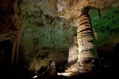 Cavern Photograph - Limestone Formations In Carlsbad Caverns by Jim West