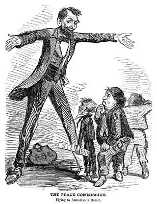 Republican Painting - Lincoln Cartoon, 1865 by Granger