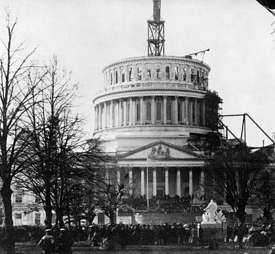 Inauguration Photograph - Lincoln Inauguration, 1861 by Granger