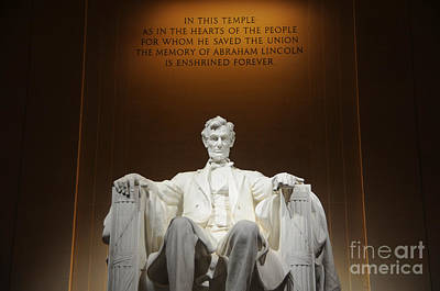 Politicians Royalty-Free and Rights-Managed Images - Lincoln Memorial at Night - Washington D.C. by Gary Whitton