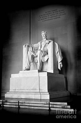 Winter Animals Rights Managed Images - Lincoln Memorial Royalty-Free Image by Lane Erickson