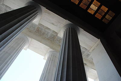 Lincoln Memorial Photograph - Lincoln Stained Glass And Columns by Kenny Glover