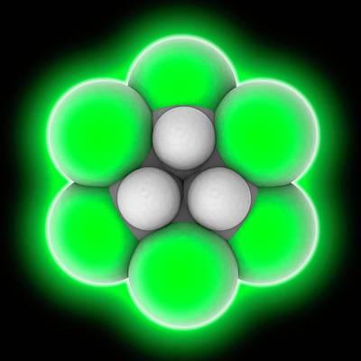 Lindane Molecule Art Print
