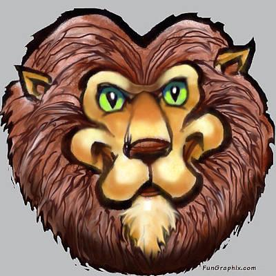 Beast Digital Art - Lion by Kevin Middleton