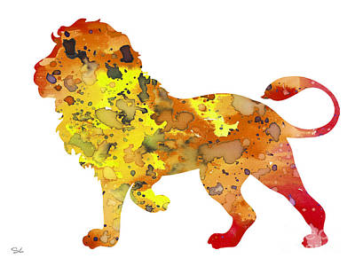 Lion Art Painting - Lion 2 by Watercolor Girl