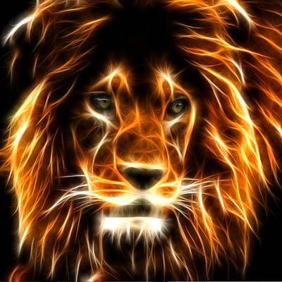 The Tiger Digital Art - Lion  by Mark Ashkenazi