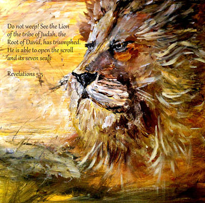 Painting - Lion Of Judah by Amanda Dinan