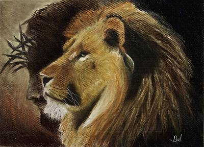 Thorns Wall Art - Pastel - Lion Of Judah by Dale Bradley
