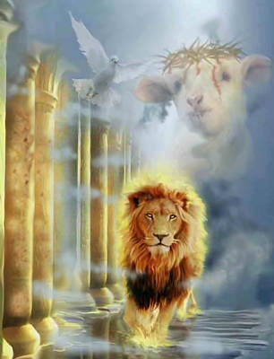 Prophetic Art Digital Art - lion of Judah by Ricardo Colon