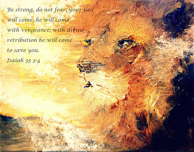 Lion Of Judah Strength Art Print by Amanda Dinan