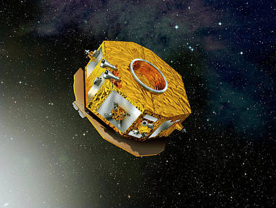 Lisa Pathfinder Space Probe Art Print by Esa-d. Ducros, 2010