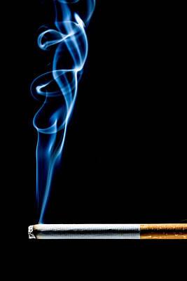 Photograph - Lit Cigarette by Philippe Garo