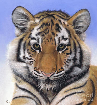 Pastel - Little Big Cat by Karie-Ann Cooper