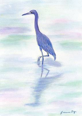 Painting - Little Blue Heron Wading by Jeanne Kay Juhos