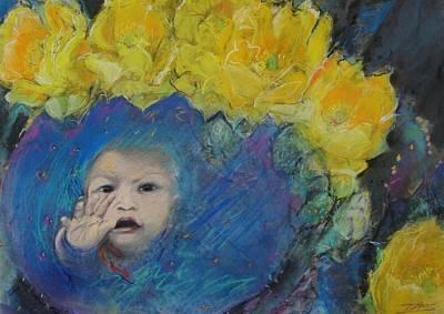 Little Cactus Boy Art Print