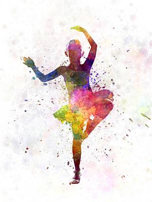 Child Dancers Painting - Little Girl Ballerina Ballet Dancer Dancing by Pablo Romero