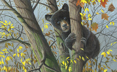 Art Print featuring the painting Little Mischief by Mike Brown
