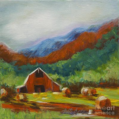 Painting - Little Red Barn by Pati Pelz