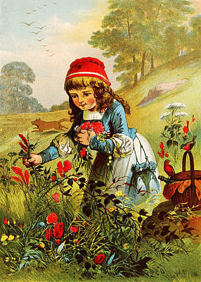 Little Bird Digital Art - Little Red Riding Hood by Carl Offterdinger