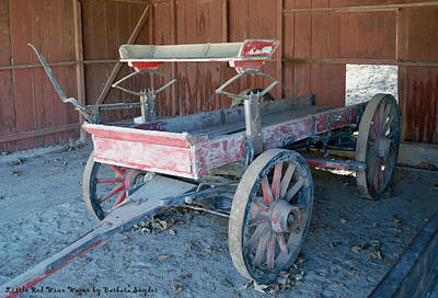 Little Red Wine Wagon Print by Barbara Snyder