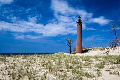 Photograph - Little Sable Point Lighthouse - Mears Mi by Jack R Perry