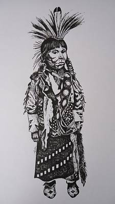 Drawing - Little Tribesman by Leslie Manley