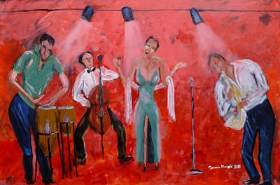 Painting - Live Jazz by Mounir Mounir