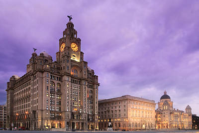 Photograph - Liverpool Pier Head At Night by Phillip Orr