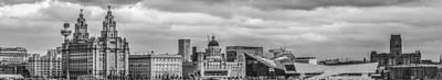 Liverpool Skyline In The Autumn Sun Art Print