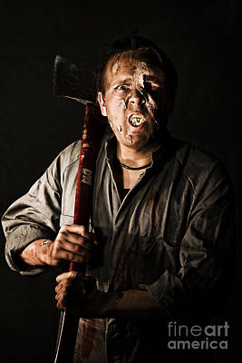 Departed Photograph - Living Dead Killer Zombie by Jorgo Photography - Wall Art Gallery