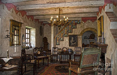 Spanish Photograph - Living Room In Carmel Mission by RicardMN Photography