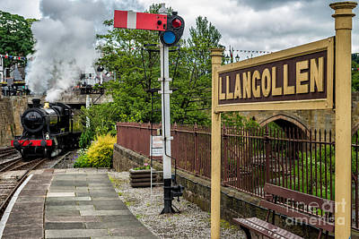 Train Photograph - Llangollen Railway Station by Adrian Evans