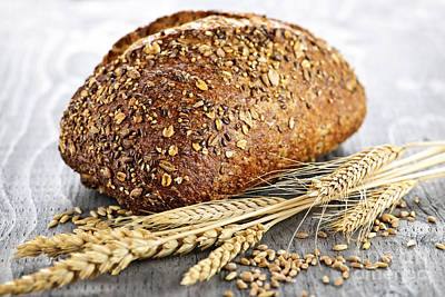 Healthy Photograph - Loaf Of Multigrain Bread by Elena Elisseeva