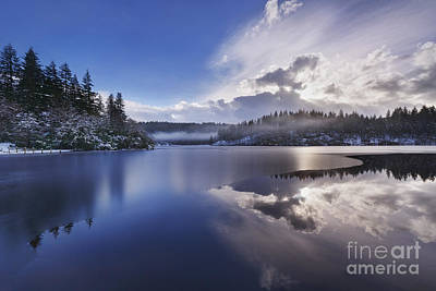 Snow Scenes Photograph - Loch Ard by Rod McLean