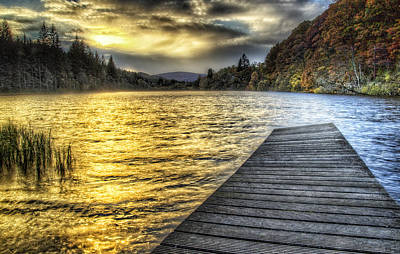 Photograph - Loch Ard Sunset At The Jetty by Fiona Messenger