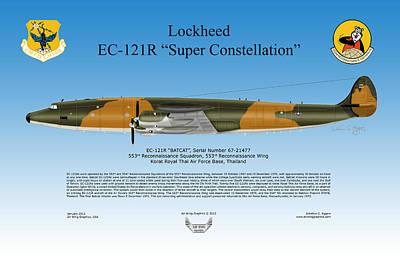 Lockheed Ec-121r Super Constellation Art Print by Arthur Eggers