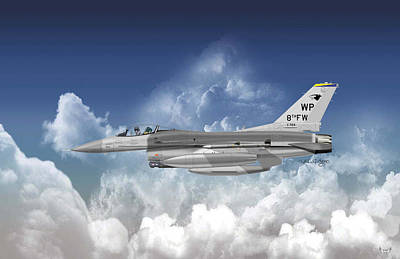 Lockheed Martin F-16c Fighting Falcon Art Print by Arthur Eggers