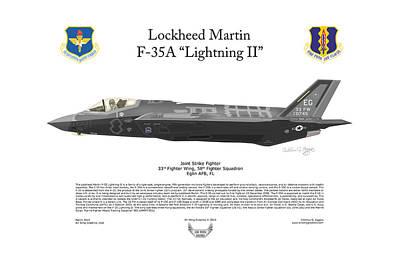 F-101 Digital Art - Lockheed Martin F-35a Lightning II by Arthur Eggers
