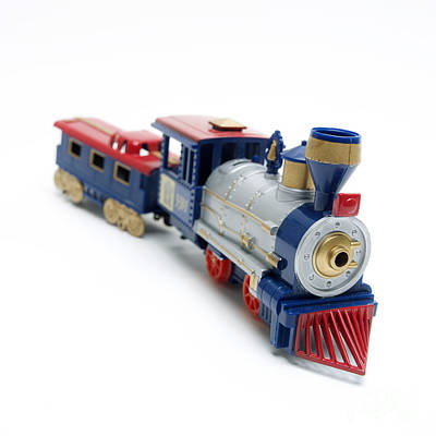 Locomotive Toy Art Print by Bernard Jaubert