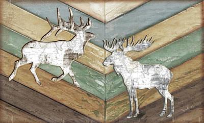 Reclaimed Wood Wall Art - Painting - Lodge by Jennifer Pugh