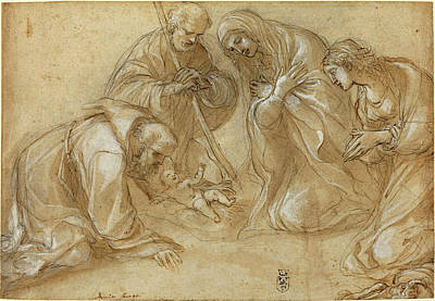 Incised Drawing - Lodovico Carracci Italian, 1555 - 1619 by Quint Lox
