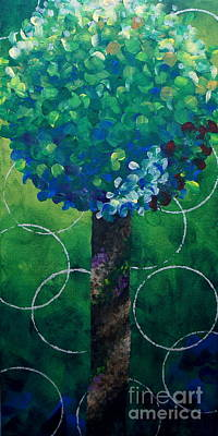 Lollipop Tree Green Art Print