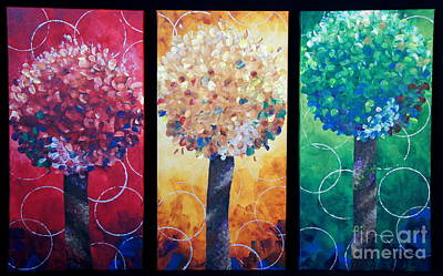 Lollipop Trees Original by Shiela Gosselin