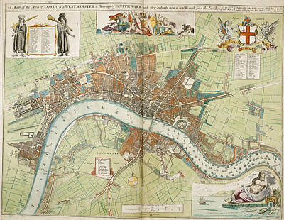 Bur Photograph - London And Westminster by British Library