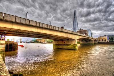 London Bridge Shard Hdr Art Print by David French