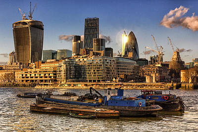 Gherkin Photograph - London City Skyline by Ian Hufton