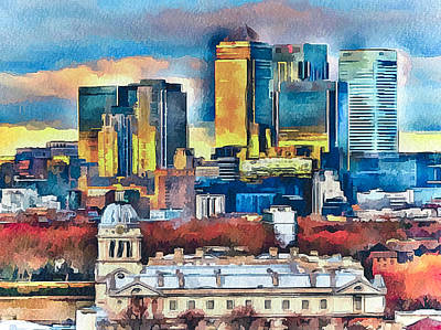 Old Town Digital Art - London City by Yury Malkov