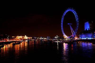 London Eye Mixed Media - London Eye Art by Doc Braham
